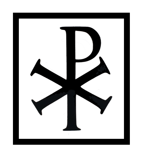 Chi Rho Symbol Embroidered Patch Christian Symbol Consisting Of