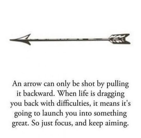 so just focus. and keep aiming.