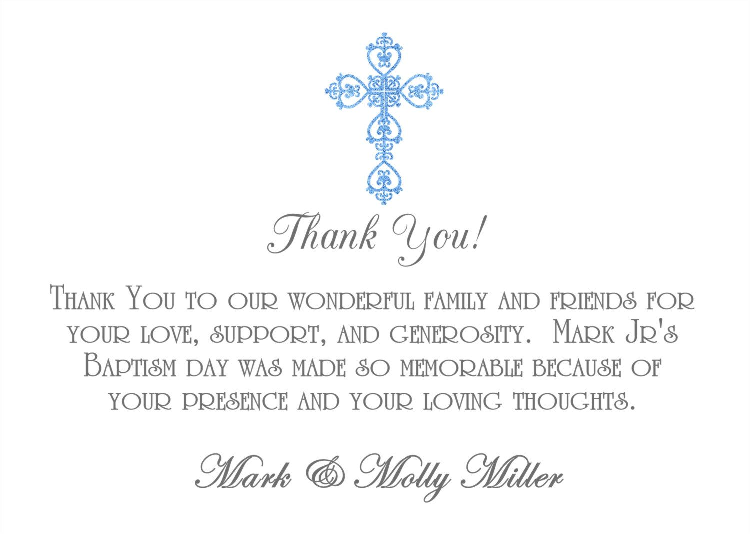 35 off christening thank you card baptism thank you card