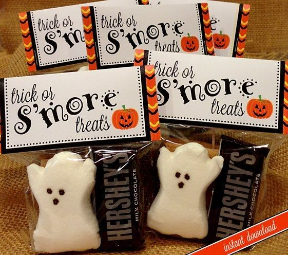 DIY Printable Pattern Halloween Smores Bag Topper - Ghost ...