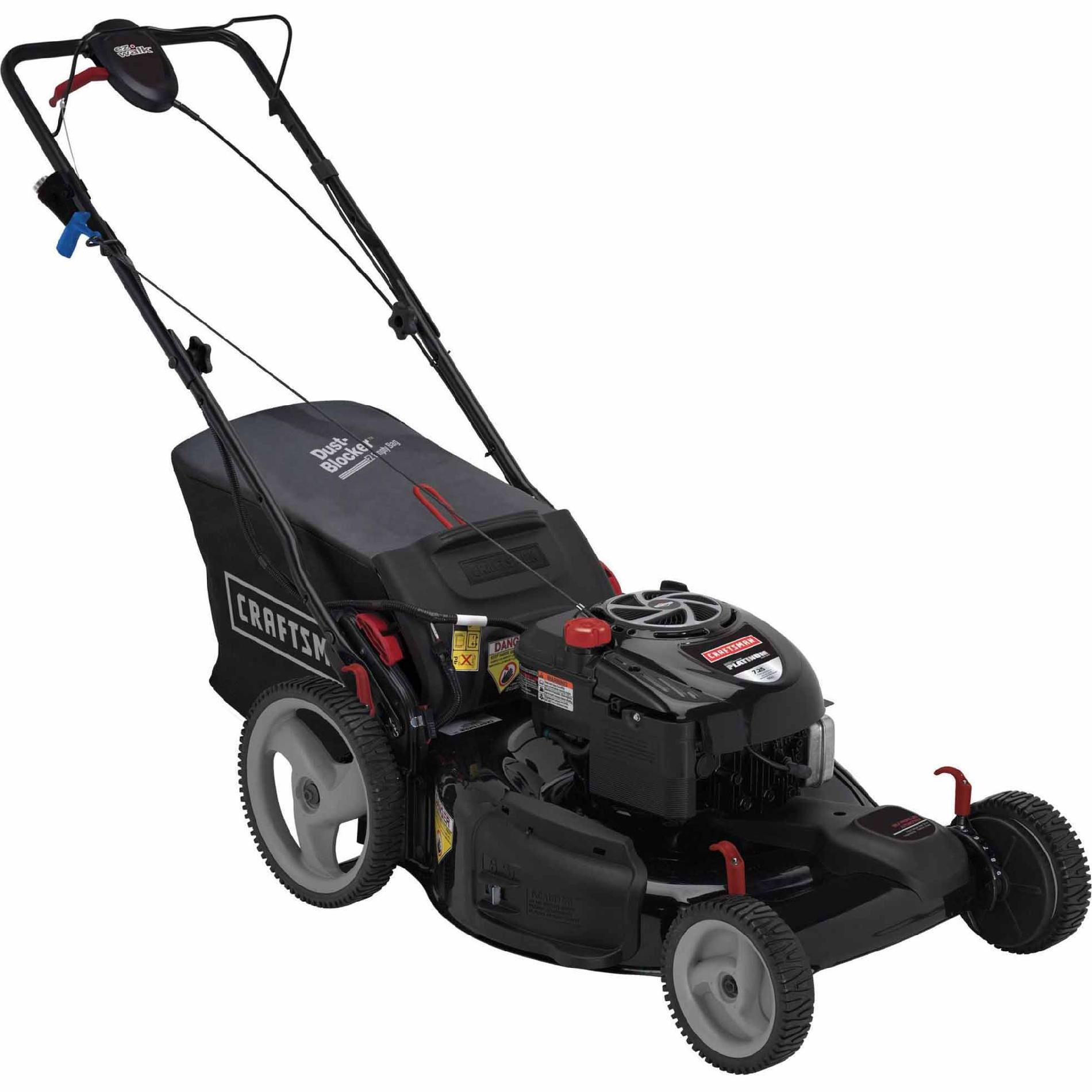 Check Out Craftsman 190cc Briggs Stratton Platinum Engine 22 Front Drive Self Propelled Ez Lawn Mower Shopyourway Lawn Mower Lawn Mower Repair Mower