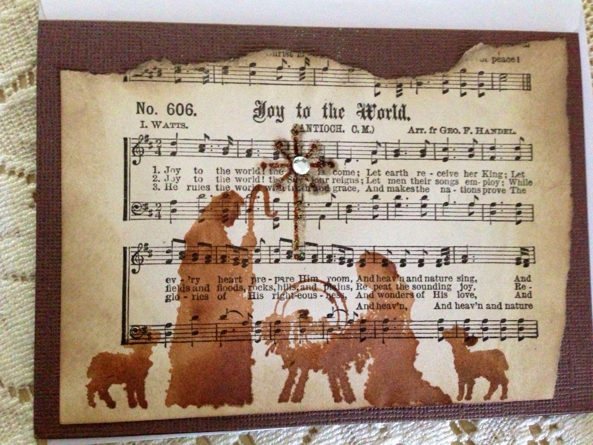 Handmade Religious Christmas Card Christmas Religious