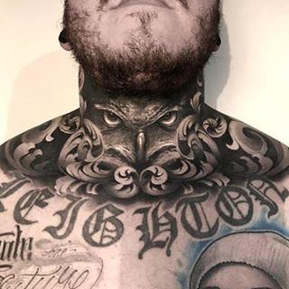 Healed neck piece 🦉🦉🦉 @inkeeze @immortalprime @killerinktattoo #sullenclothing #skinartmag #skinartmagazine #sullenartcollective #inkfreakz #blackandgrey#inksav #blackandgreytattoo #sullen #fkironsproteam #worldfamousink #scotland #aberdeen #aberdeentattoo #seeninthedeen #dundee #glasgow #edinburgh #ostrowwlkp #krakow #yarsontattoo #yts_aberdeen #spectraxion #goldenstatetattooexpo #ktosieniedziaratenfujara #wipeoutz