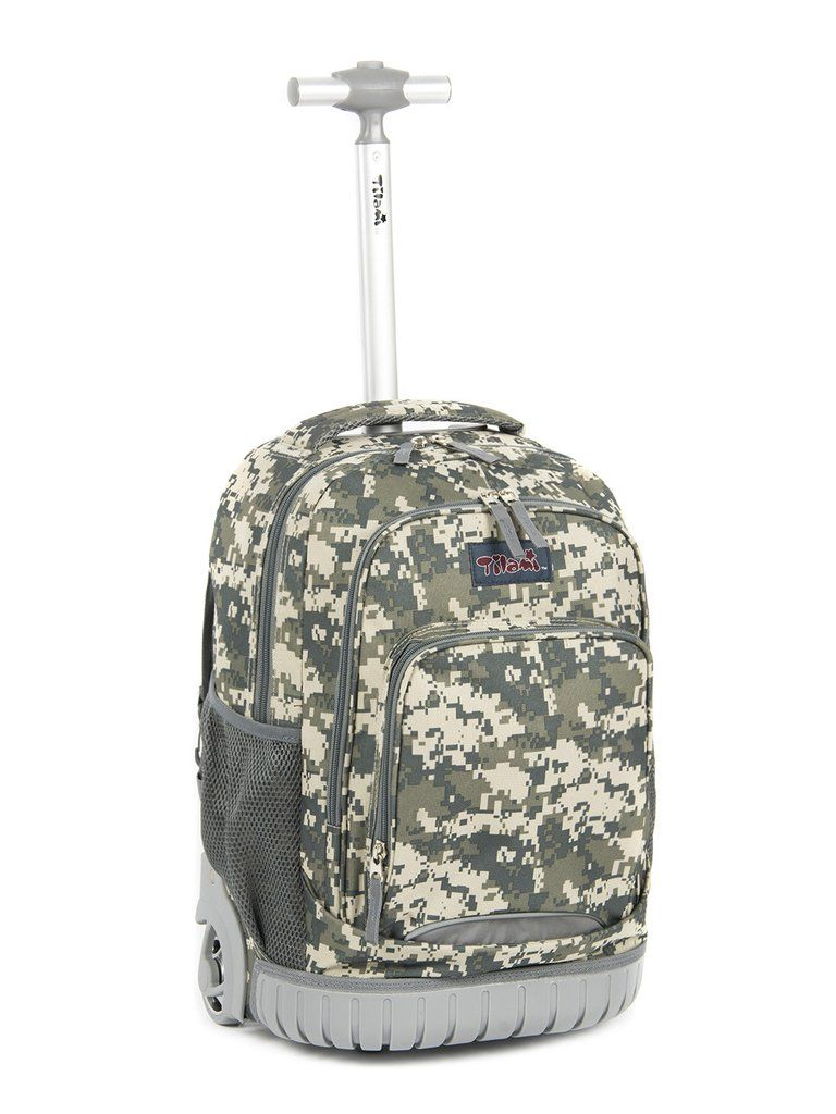 Tilami inch human engineering design laptop wheeled rolling backpack luggage  for boys camouflage pattern jpg 768x1024 22cf0fbccbe8c