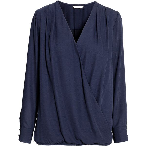 MAMA Nursing Blouse $34.99 (€33) ❤ liked on Polyvore featuring tops, blouses, pleated blouse, blue blouse, pleated top, v-neck tops and blue top
