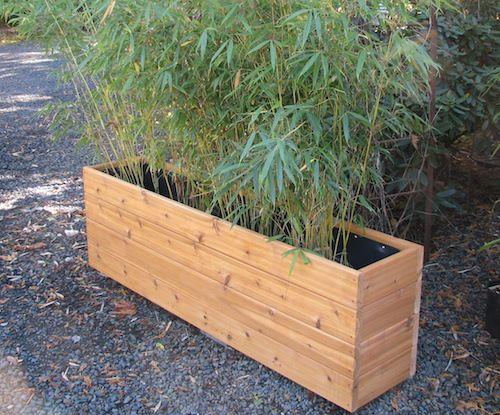 Narrow Planters 72 Inch Narrow Planter Box Bamboo 400 x 300