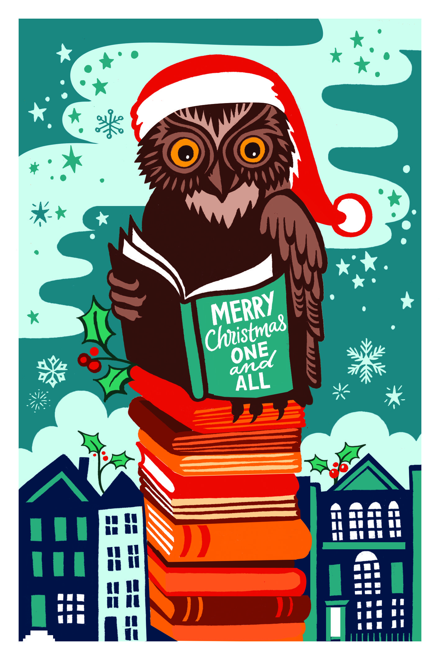 Image result for library themed christmas cards