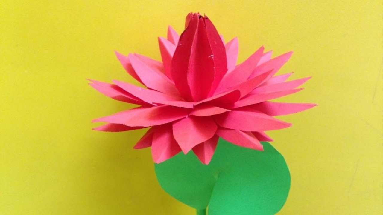 How To Make Water Lily Paper Flower Papercraft Pinterest