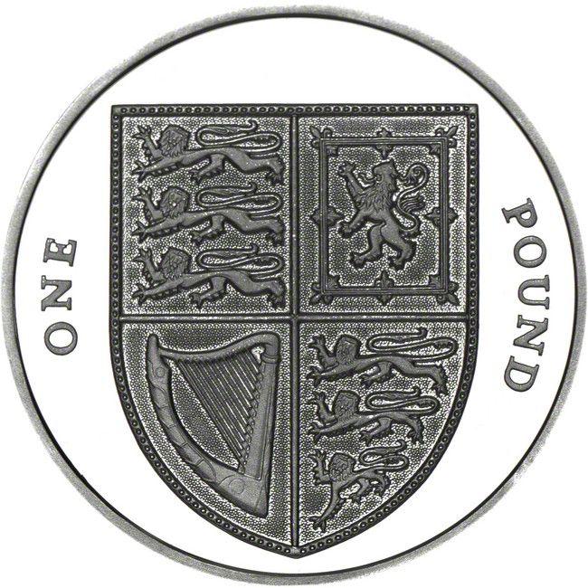 1 Pfund Silber Königliches Wappen 2009 PP