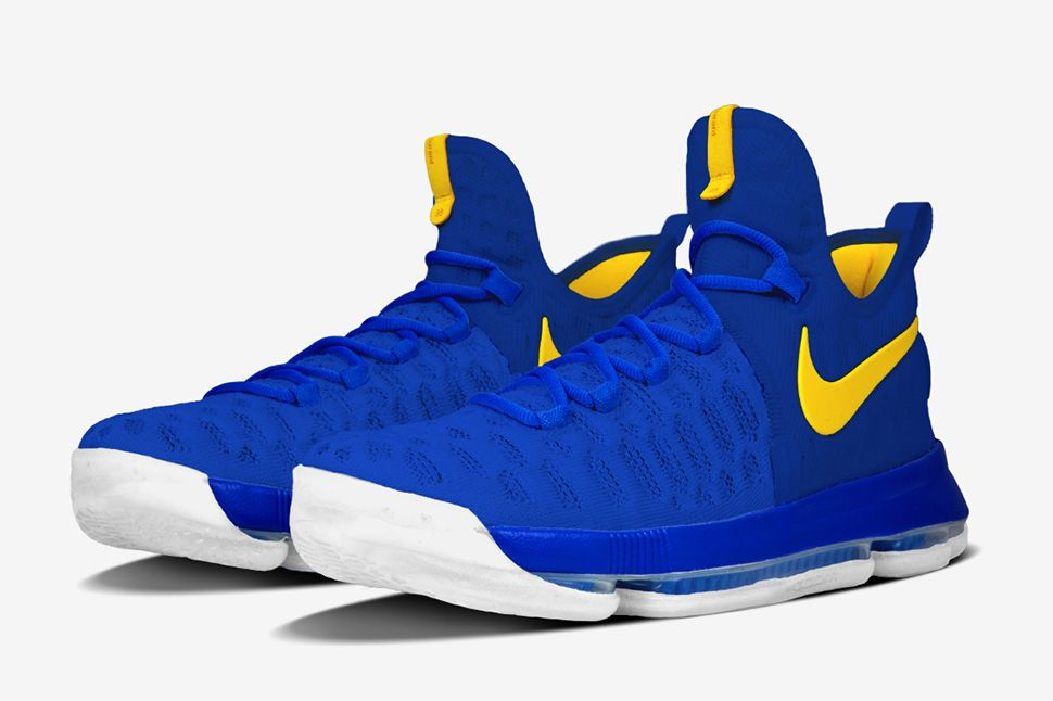 cheap for discount 7fa94 ac9ab Nike iD Adds Golden State Warriors Options for Zoom KD 9 - EU Kicks   Sneaker Magazine