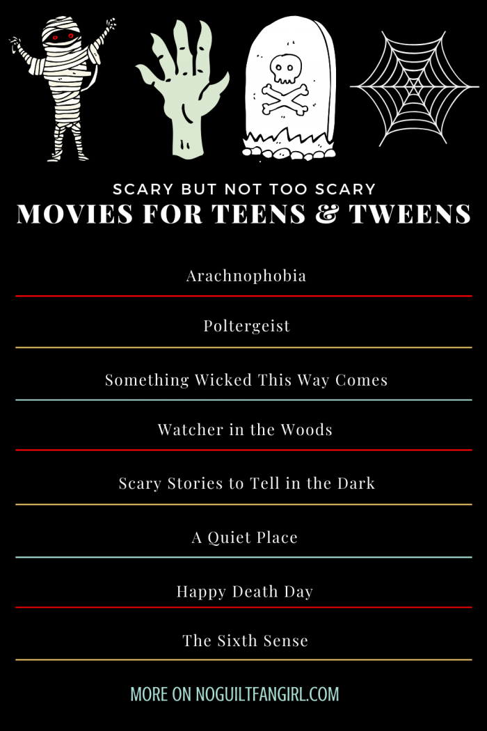 Scary But Not Too Scary Movies For Teens And Tweens Scary Movies Halloween Movies Kids Halloween Movies For Tweens
