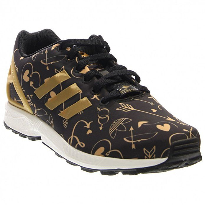 adidasWomen's ZX Flux Black Gold White Fashion Sneakers     I really love these gold and black shoes.  These are beautiful, elegant and bold.  I love how flashy and cool these are