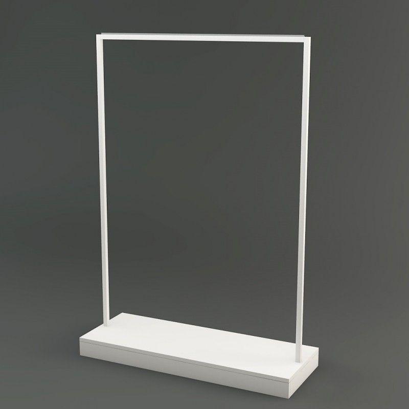 portant v tement professionnel barre de penderie en epoxy blanc et base personnalisable un. Black Bedroom Furniture Sets. Home Design Ideas