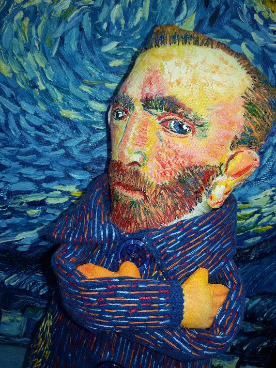 Celebrity Art Doll Vincent Van Gogh Starry Night Van Gogh ...