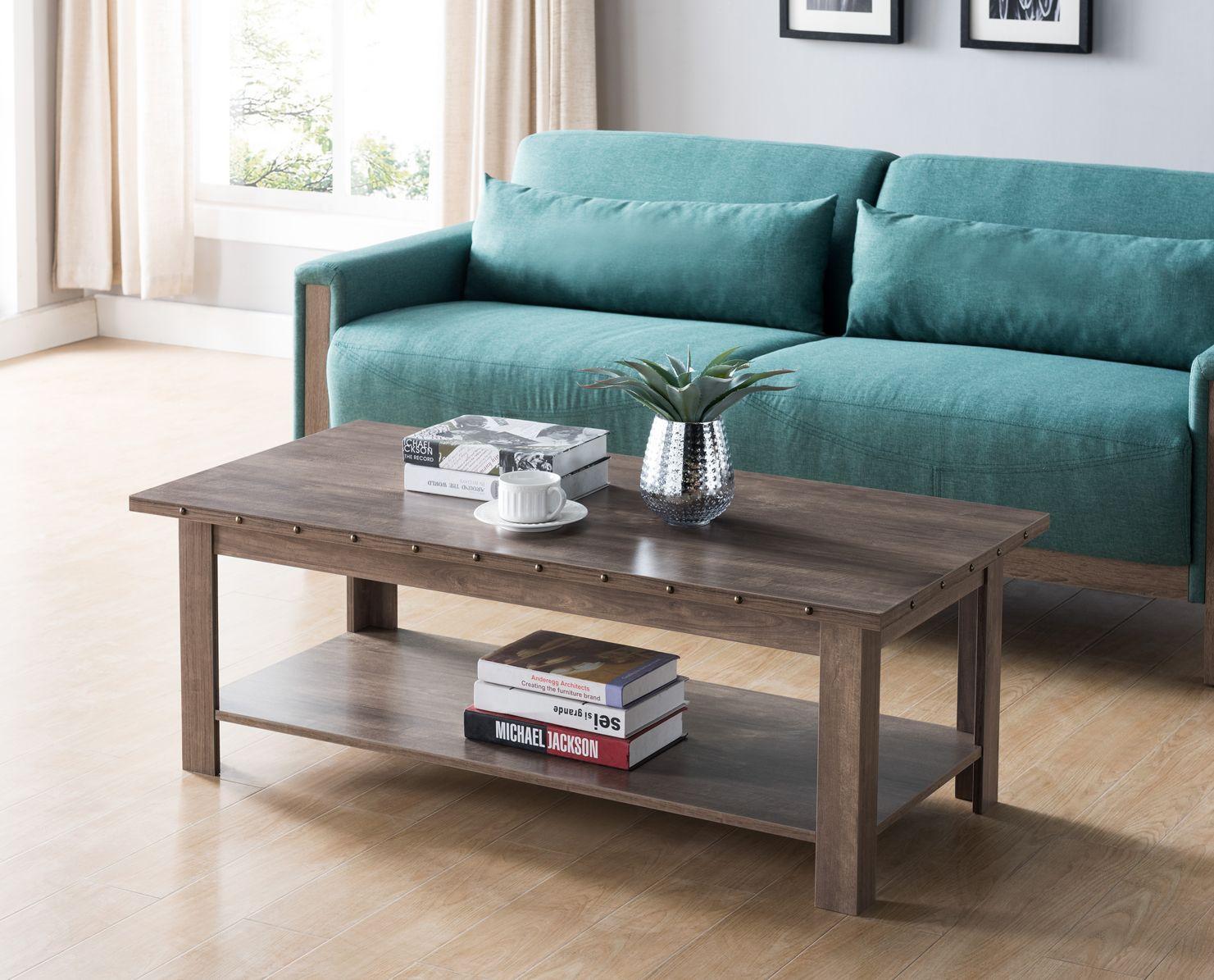 Id Usa 182286ct Coffee Table With Stud Details Idusa Idusafurniture Mid Century Modern Coffee Table Coffee Table Living Room Leather [ 1195 x 1481 Pixel ]