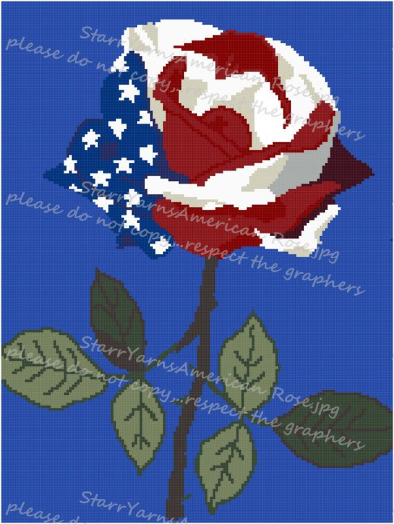 American Rose Crochet Graph Pattern