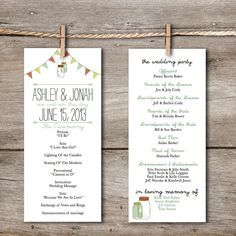 Simple Wedding Ceremony Program Google Search Printable