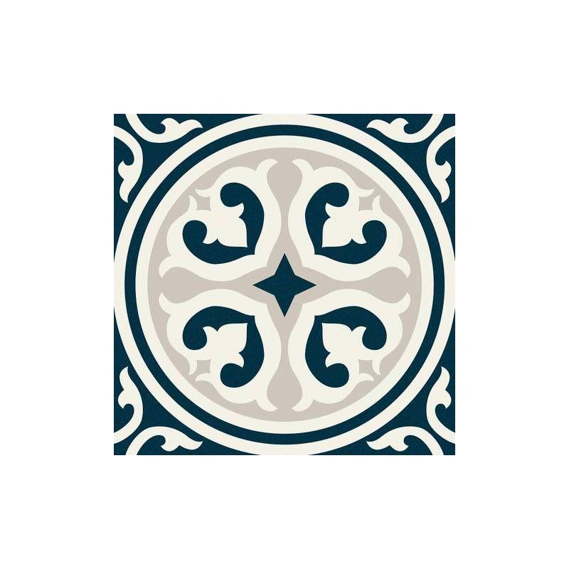 Imitation Carreau De Ciment Decor Blanc Et Bleu Hy6401001