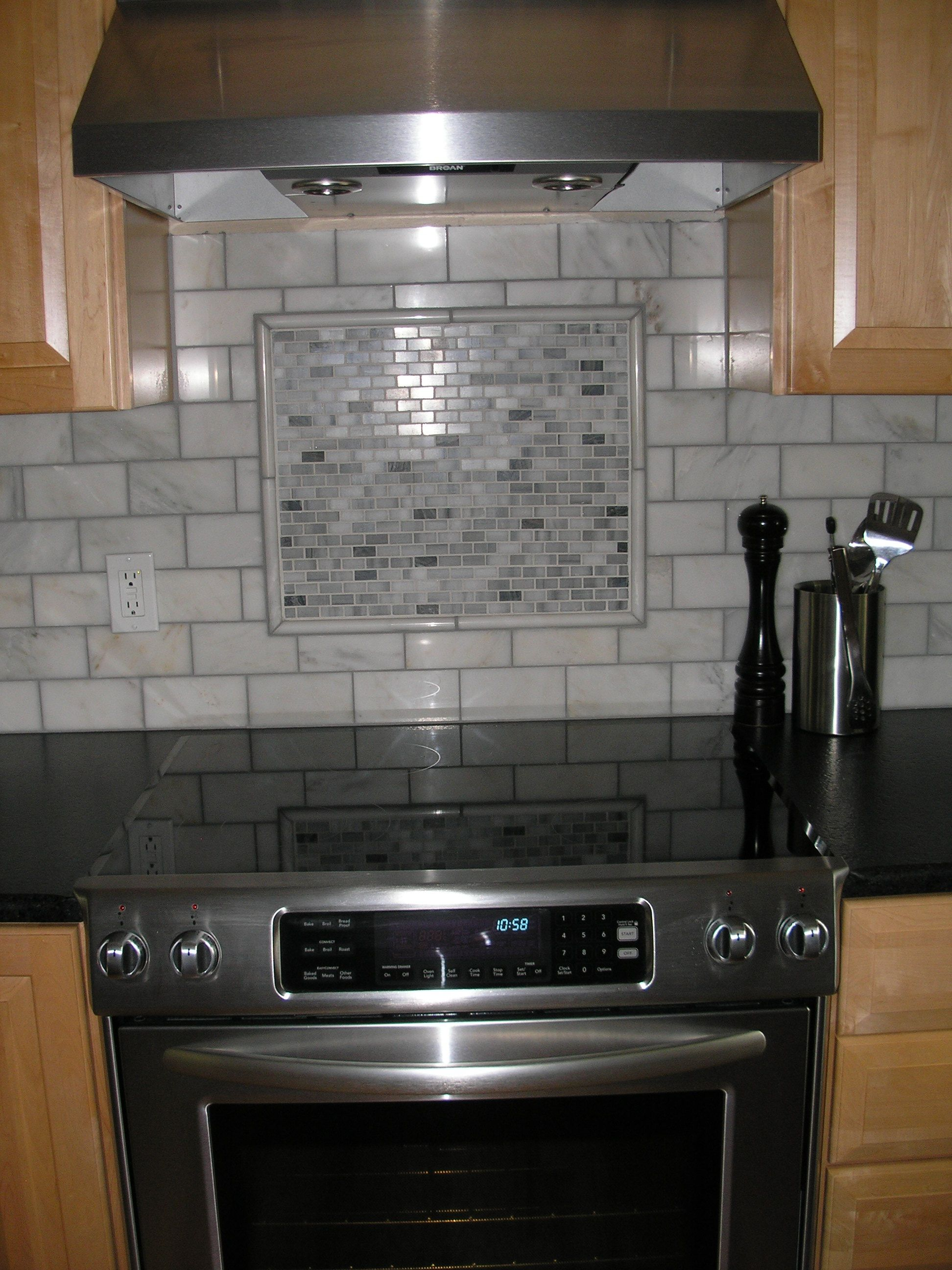 Backsplash Accent Ideas Mosaic Miniature Subway Tile Accent Piece With Pencil Edge