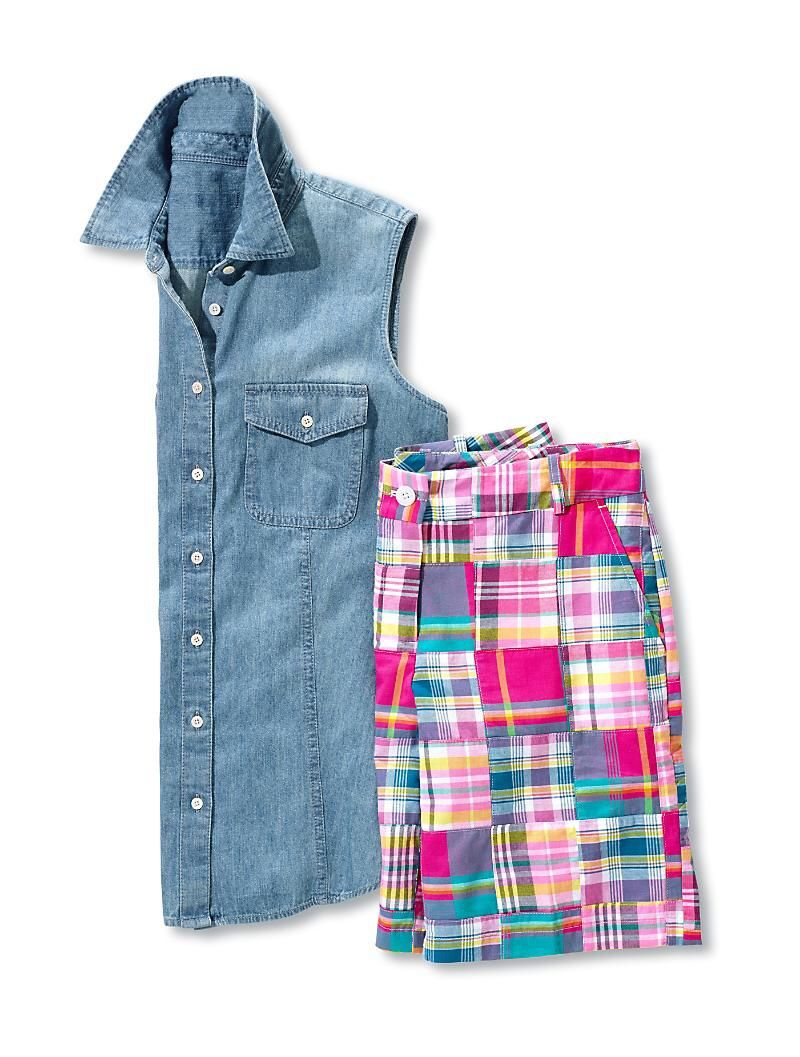 More madras from Talbots!  Love the shorts!