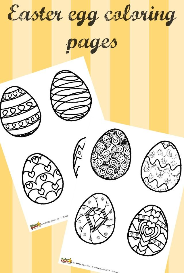 We Have Some Lovely Easter Egg Coloring Pages For Kids And Adults Why Not Print Them Out Give A Go