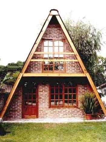 Caba a alpina prefabricada de madera econ mica chal s pinterest constru o de casas doce - Cabanas de madera economicas ...
