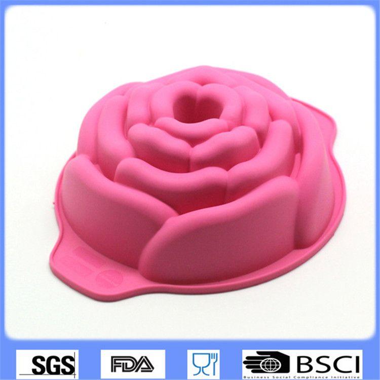Aliexpress.com : Acquista 3D Rosa Forma Della Torta Del Silicone ...