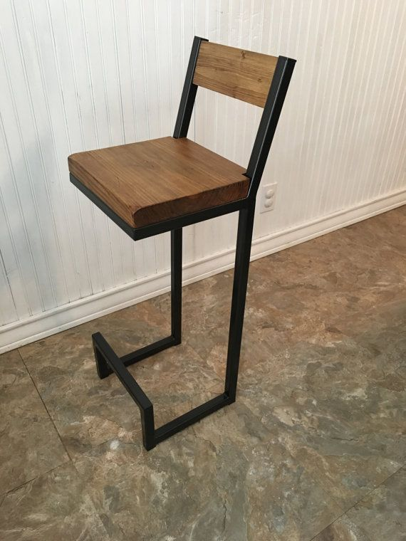 26 New Bar Stool With Back Rest Metal Bar Stools By Alexmetalart