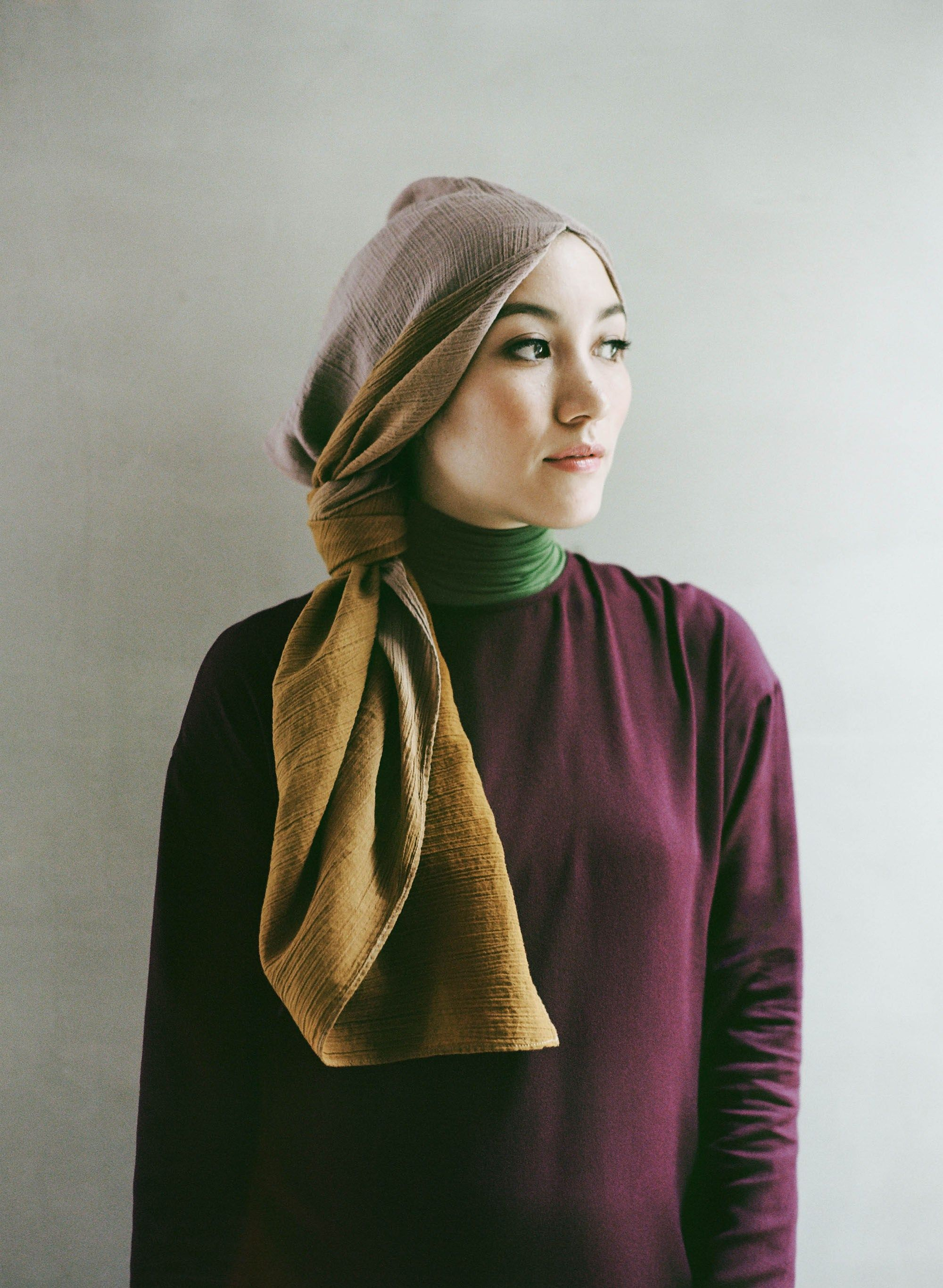 Nice Idea To Wear Scarf By Hana Tajima Moslem Wear Ideas