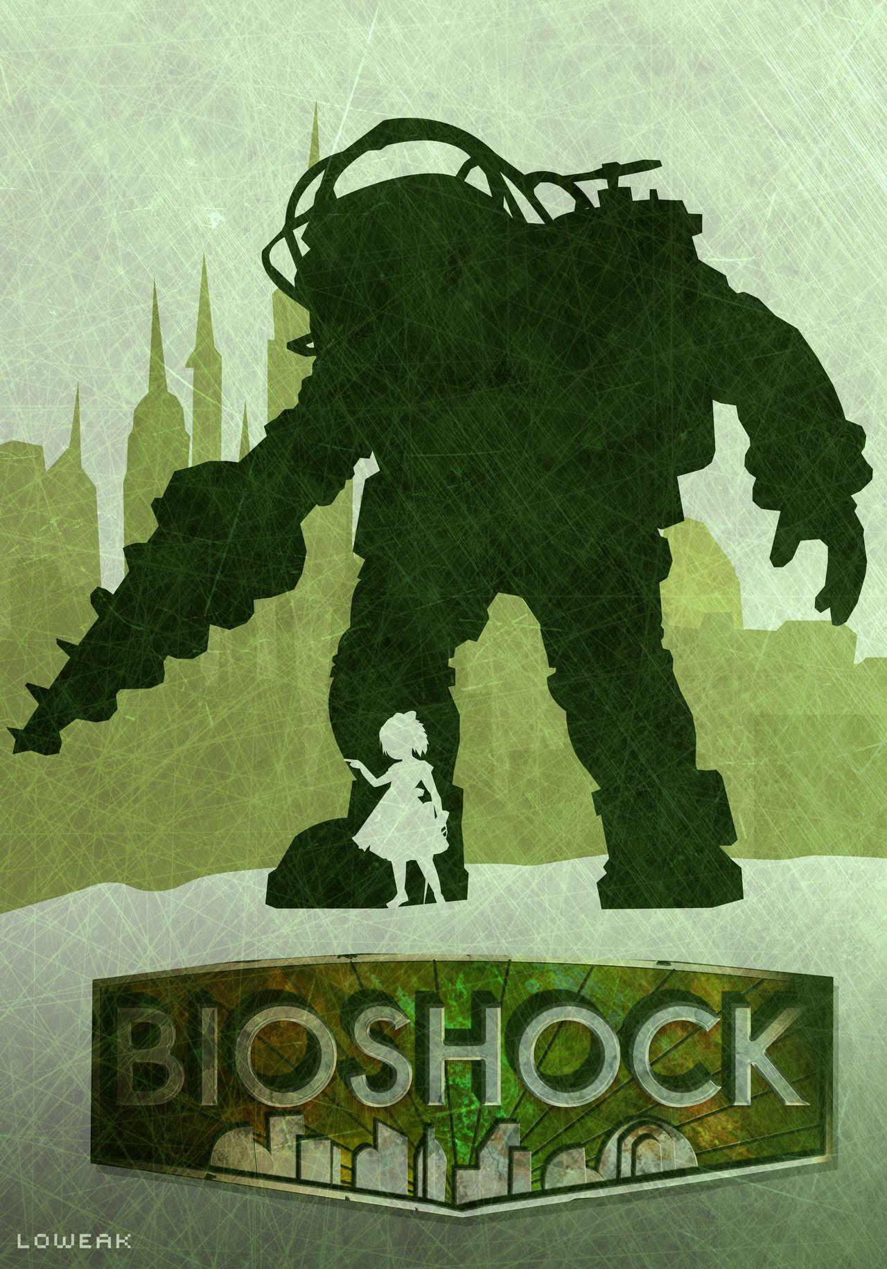 New Bioshock Big Daddy /& Little Sister Custom Art Poster Print Wall Decor