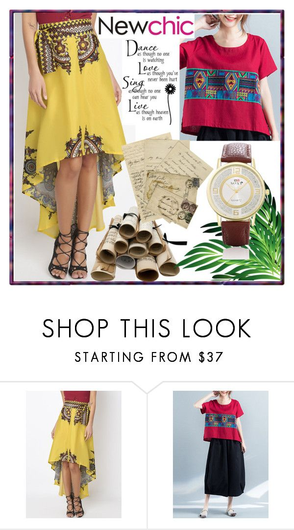 """""""Newchic 6"""" by lili-876 ❤ liked on Polyvore featuring Branca and WALL"""