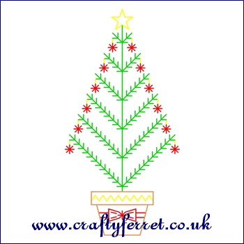 Free Christmas Tree Stitching On Card Embroidery Pattern Paper Embroidery Embroidery Cards Stitching Cards