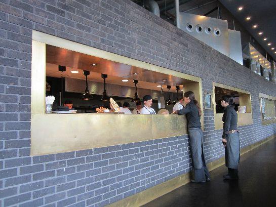 Commercial Kitchen Pass Through Window Detail