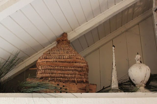 52 FLEA: Antique French Bee Skep For Sale
