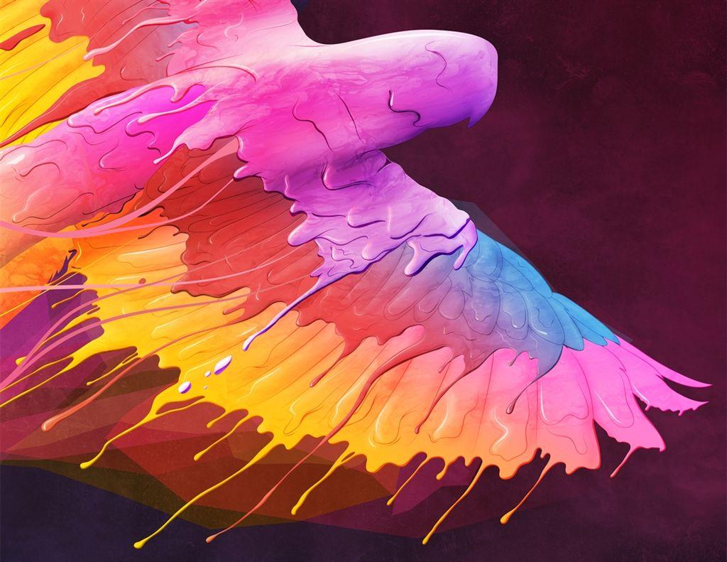 Color art digital -  Flying Colors Art Print Olivier Lutaud Curioos The Digital Art