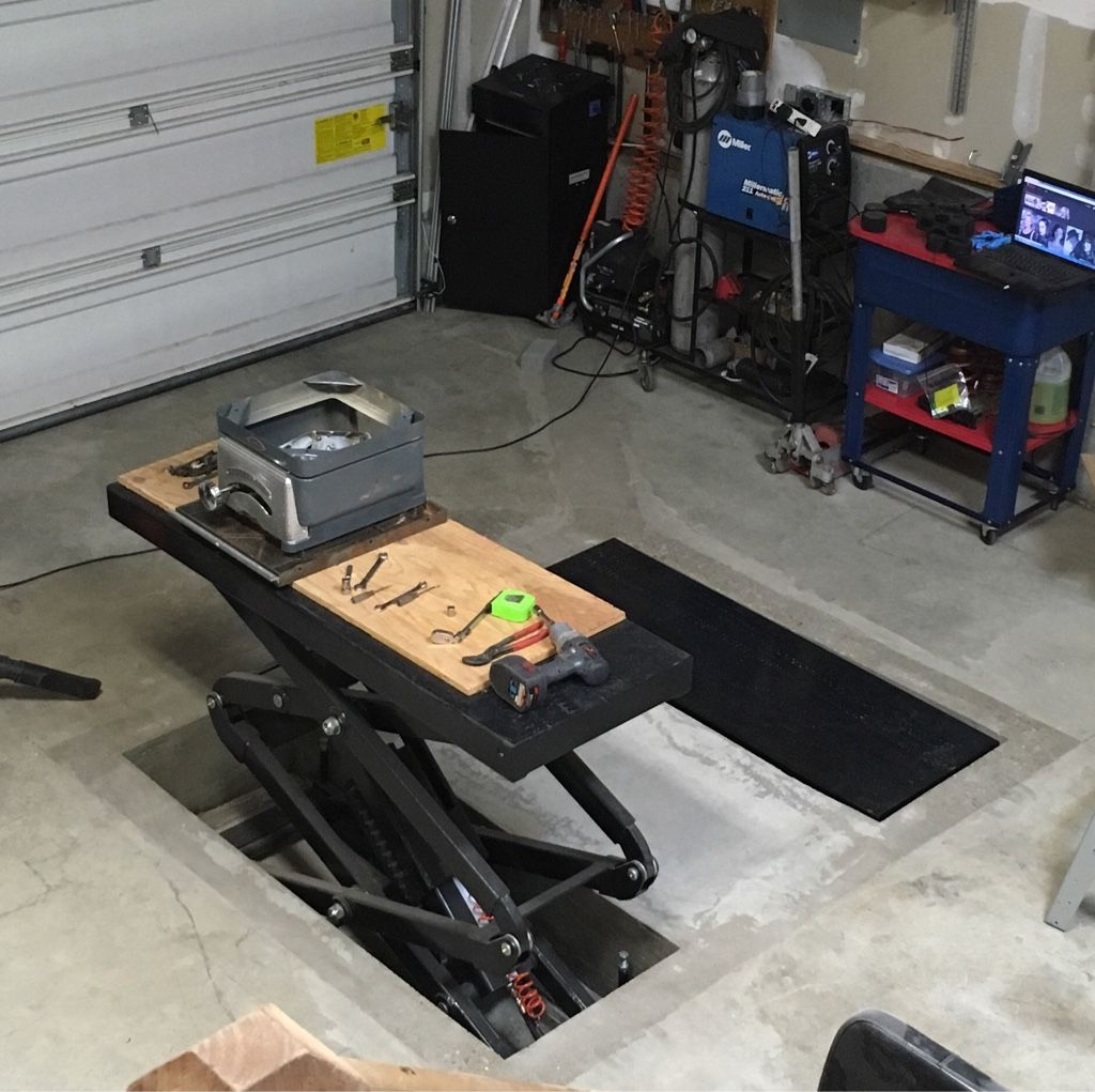 In Floor Scissor Lift Install The Garage Journal Board