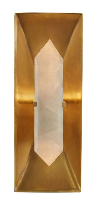 26 Interior Design Ideas With Wall Sconce: Halcyon Rectangle Sconce - Brass