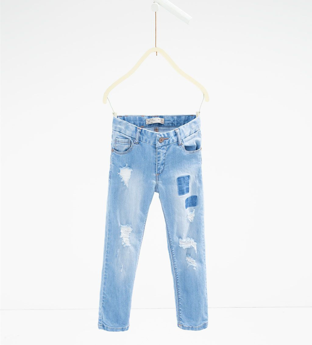 Ripped jeans JEANS GIRL   4 14 years KIDS   ZARA United