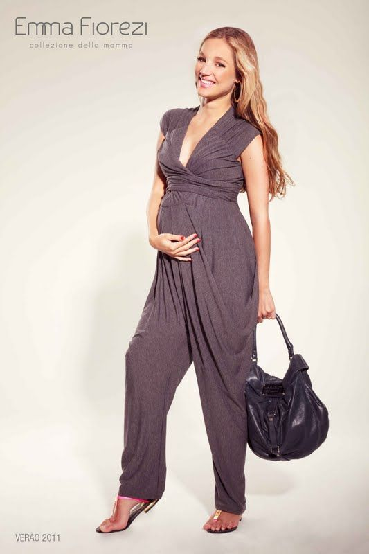 vestidos e macacões para grávidas - Pesquisa Google. Macacão malha gestante  Novias Embarazadas ... 05125dfb8bf6