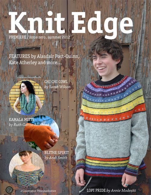 Issue zero of Knit Edge magazine from Cooperative Press is ...