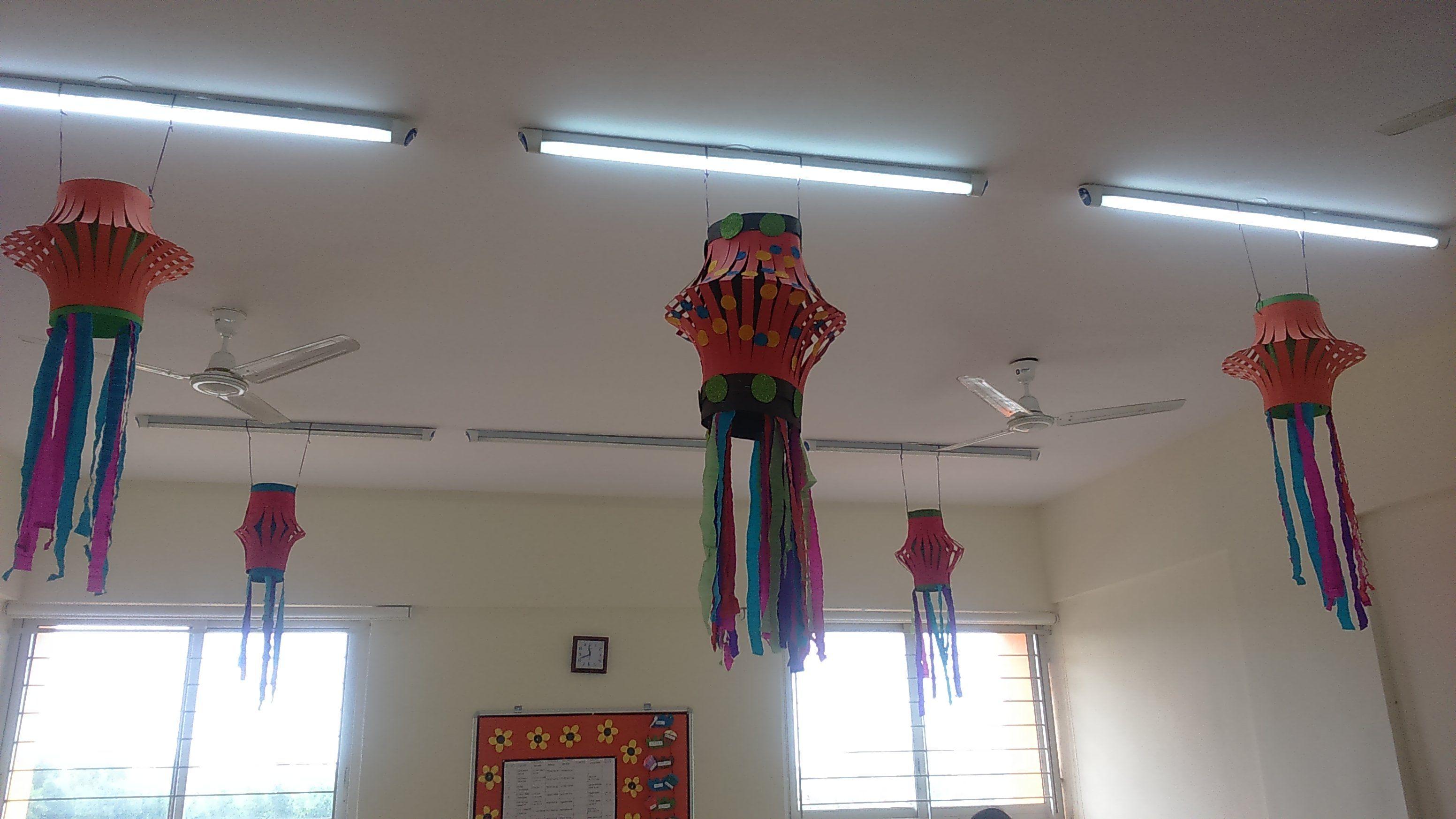 Classroom Door Decoration Ideas For Diwali ~ Lkg class decoration for diwali creative classroom