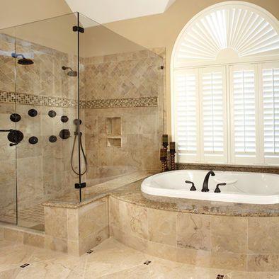 Traditional Bathroom Tiled Shower Design Pictures Remodel Decor