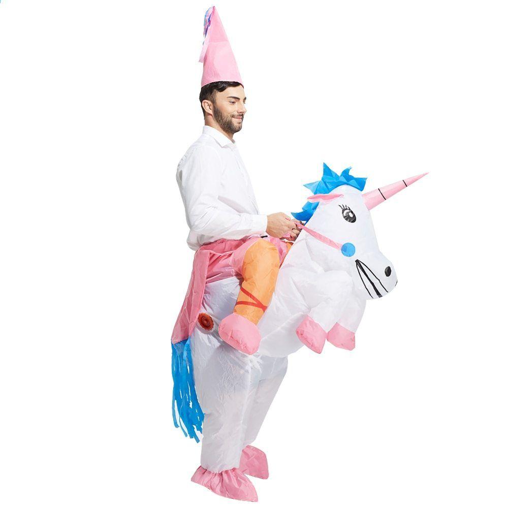 Fancy Oppustelige Unicorn Suit Pegasus Kostume xP7PSO