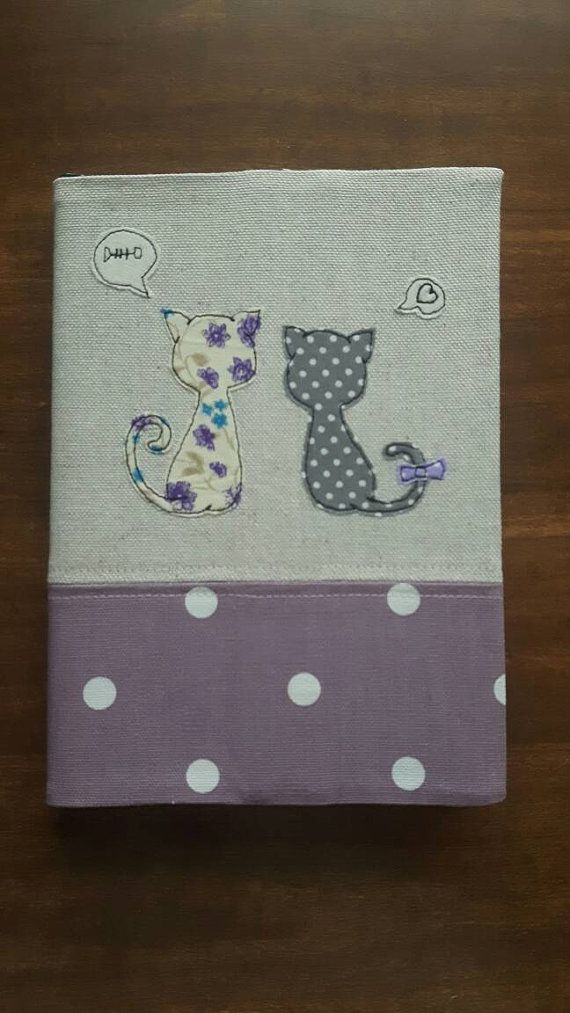 Fabric Notebook Cover : A fabric notebook journal diary cover using free