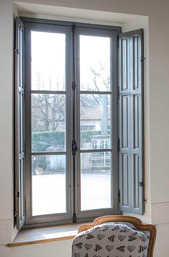 fenêtre bois double vitrage Pinterest - store occultant porte fenetre