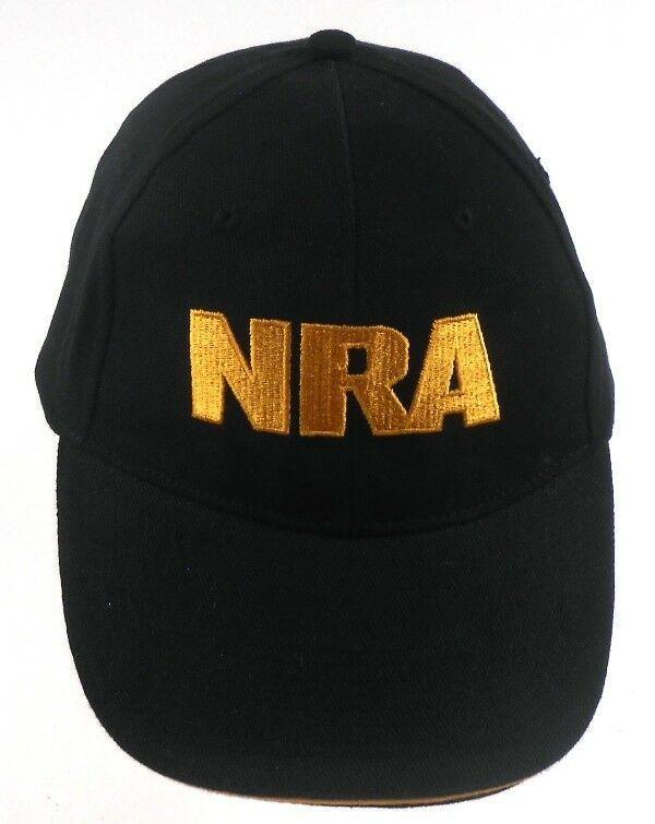 NRA National Rifle Association Black Embroidered US Flag Strapback Cap Hat   nra 2fc9d694dd