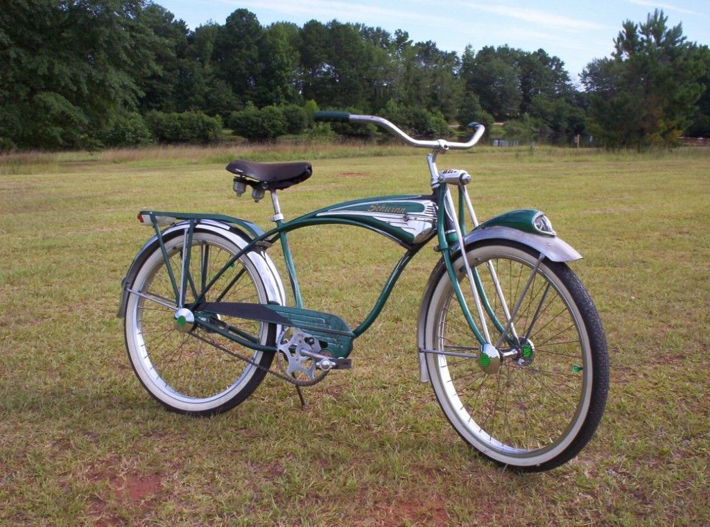 4b43facc7a9 I want this bike! Very rare in green! 1956 Schwinn Phantom - Picture #1 -  Dave's Vintage Bicycles
