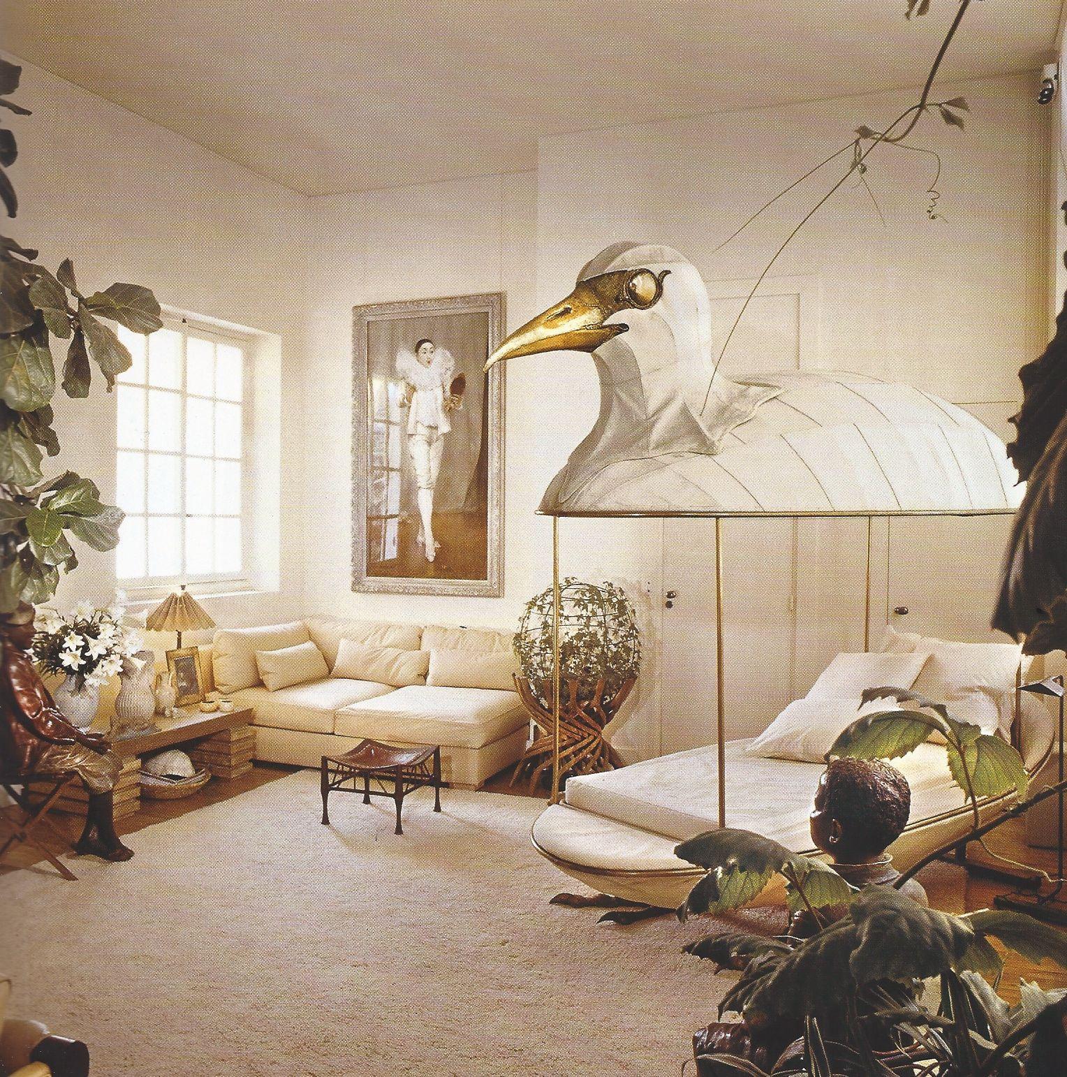 Jacques Grange 39 S Apartment In Paris 1975 Bedrooms Pinterest Pillow Room That 39 S Weird
