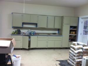 Kitchen Cabinets Repurposed To Garage