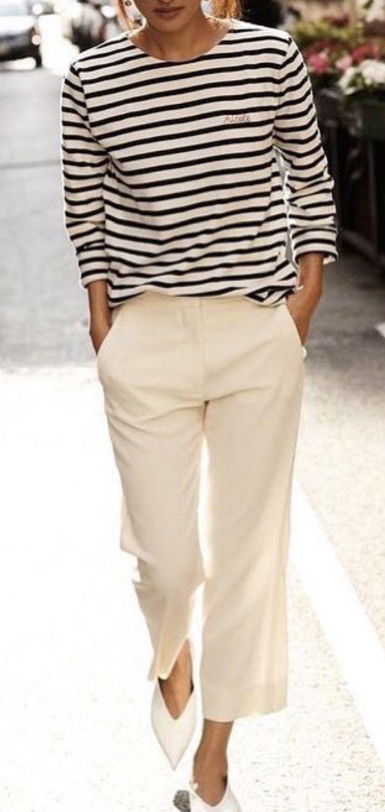 9ab015215d702 Épinglé par Lika Lika sur Женская мода   Pinterest   Mode marinière,  Vêtements et Jupe culotte